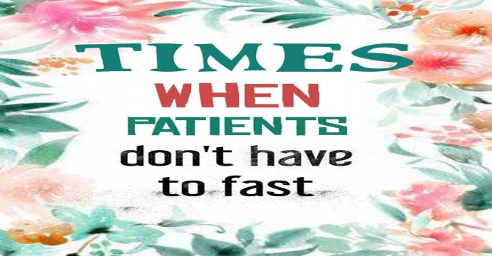 Patients and fasting