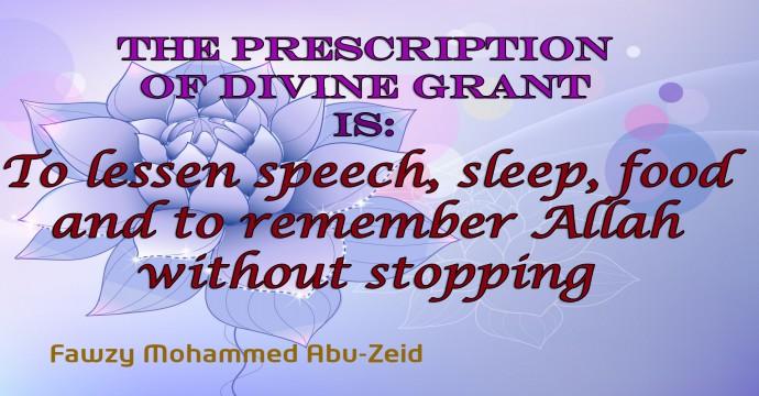 THE PRESCRIPTION OF DIVINE GRANT