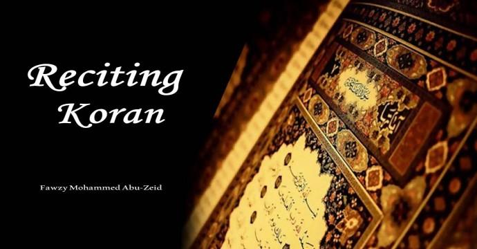 Reciting Koran